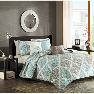 Arbor Floral Quilted Coverlet Set - 6-Piece