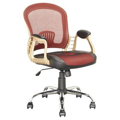 Workspace Leatherette and Mesh Office Chair - CorLiving