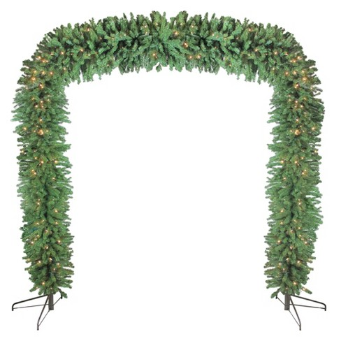 Target Christmas Commercial.Northlight 9 X 8 Pre Lit Pine Artificial Christmas Commercial Archway Decoration Clear Lights