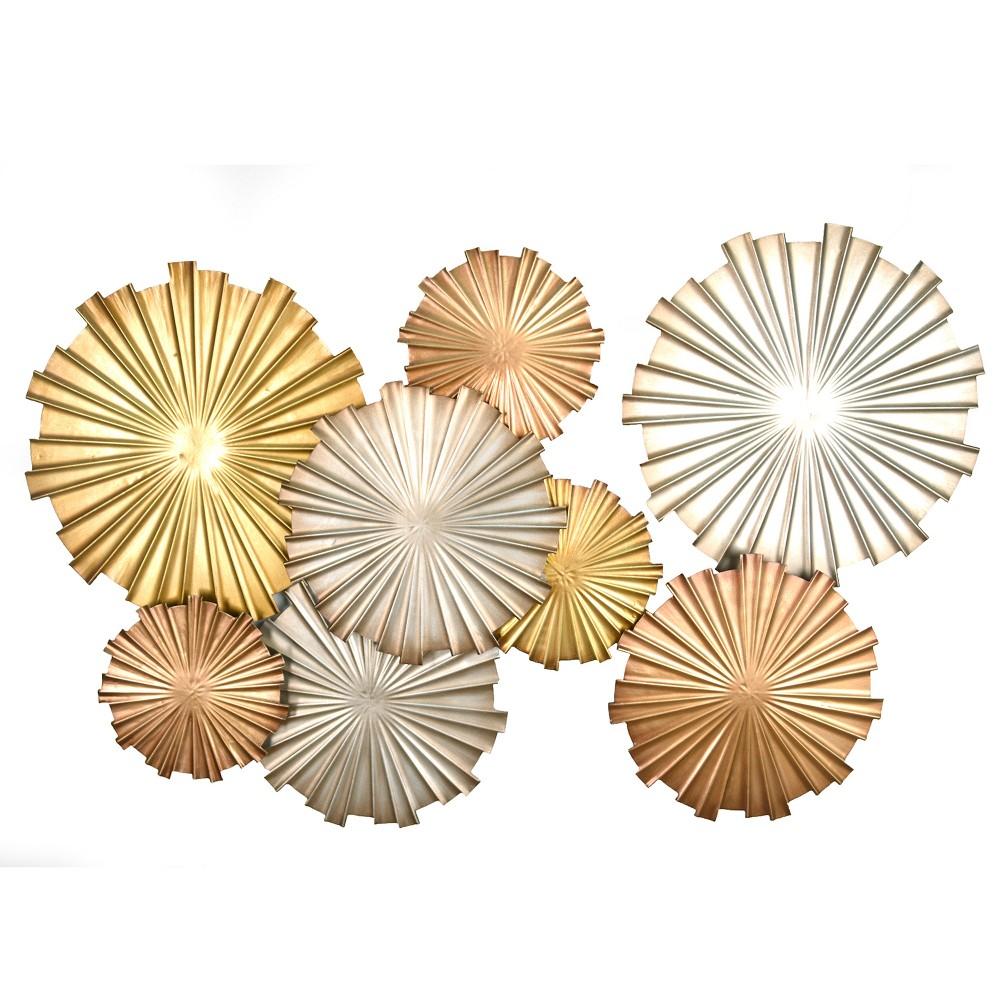 Metallic Circles Wall Decor - Stratton Home Decor, Bright Gold