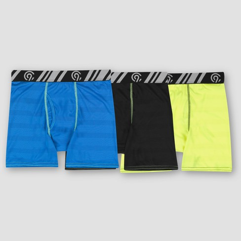 Boys' 3pk Poly Mesh Stripe Boxer Briefs - C9 Champion® - image 1 of 3