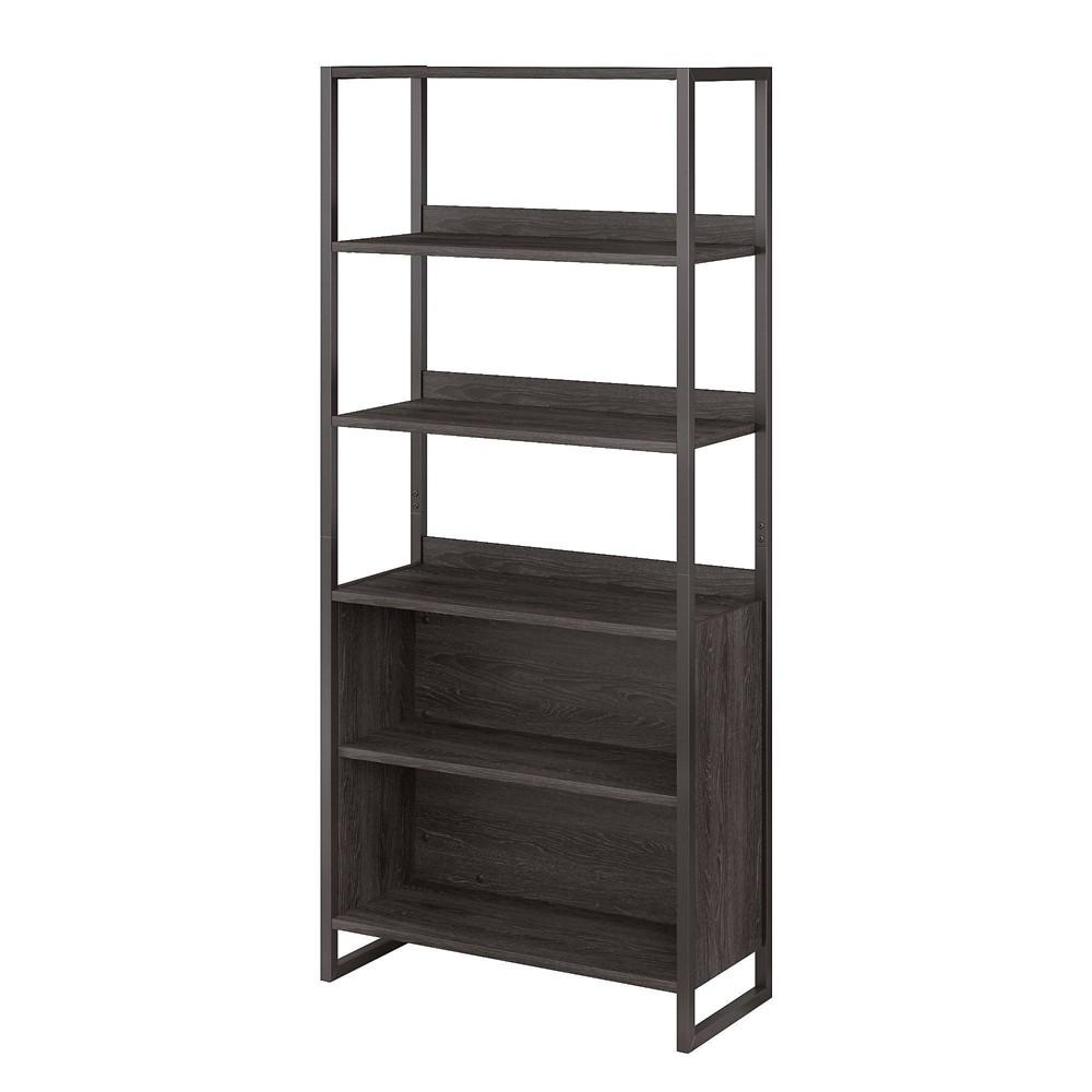 Image of Atria 5 Shelf Bookcase Charcoal Gray - Kathy Ireland Home