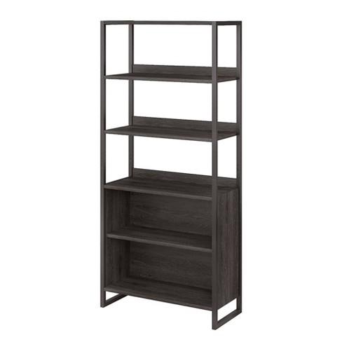 5 Shelf Atria Bookshelf Charcoal Gray - Kathy Ireland Home - image 1 of 4