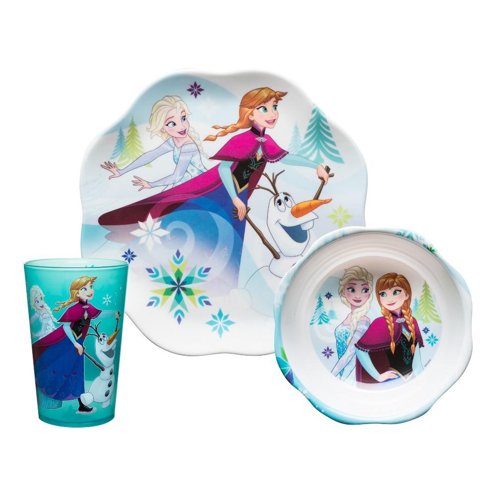 Frozen 3pc Melamine Dinnerware Set - Zak Designs, Multi-Colored