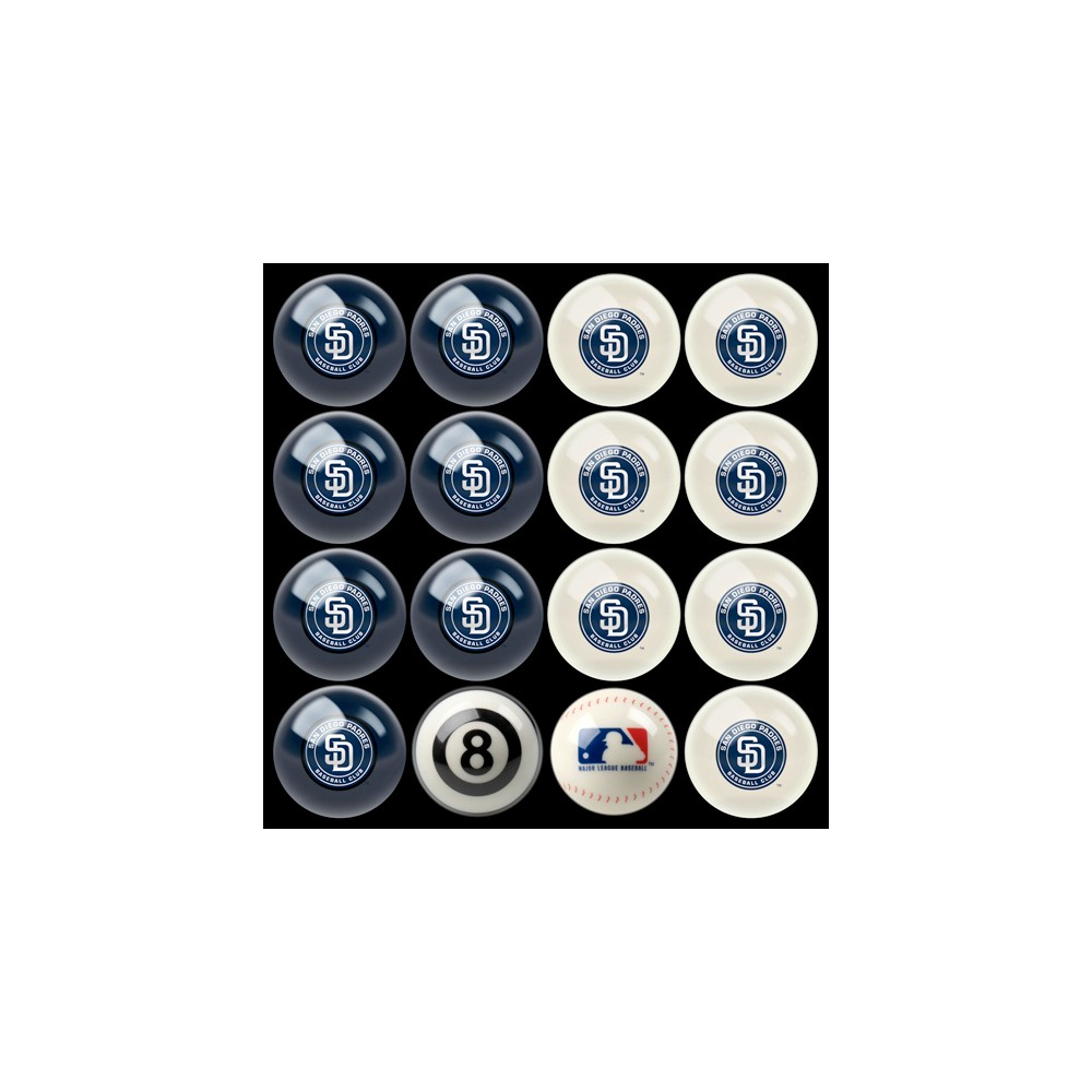 San Diego Padres Imperial Home vs. Away Billiards Ball Set