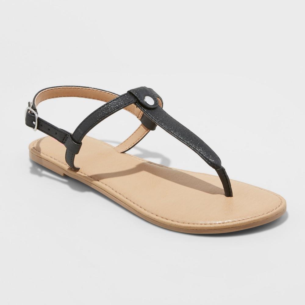Girls' Odette Thong Sandals - Cat & Jack Black 5