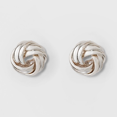 Love Knot Stud Earrings A New Day Silver