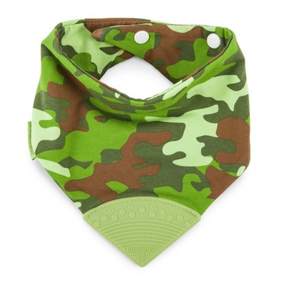 Bandana Teether Bib- Camo Green
