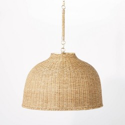 Large Seagrass Pendant Table Lamp Brown - Threshold™ designed with Studio McGee