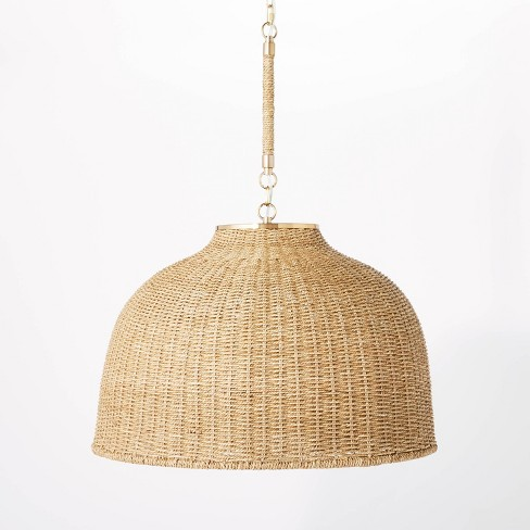 Large Seagrass Pendant Table Lamp Brown - Threshold™ designed with Studio McGee - image 1 of 4