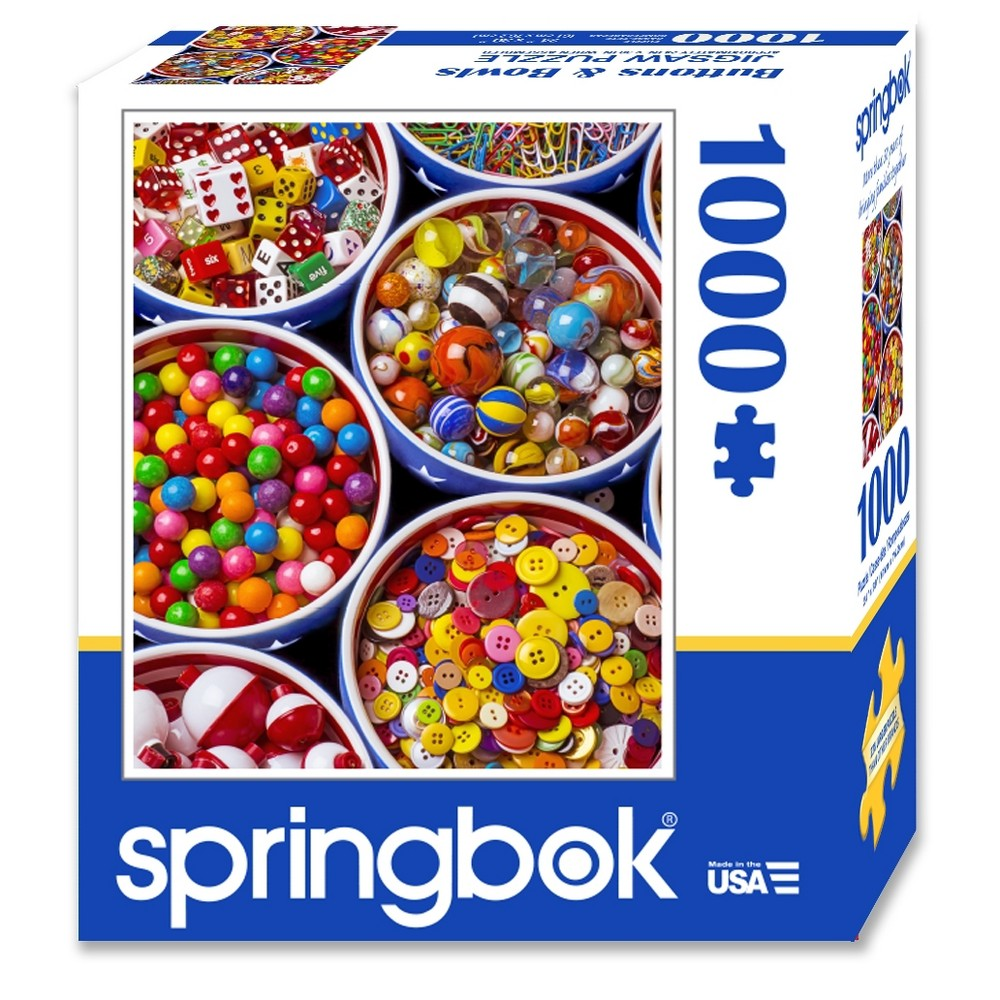 Springbok Buttons and Bowls 1000pc Jigsaw Puzzle (Compact-Box Format)