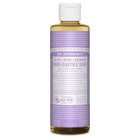 Dr. Bronner's Lavender Pure-Castile Liquid Soap - 8oz - image 1 of 4