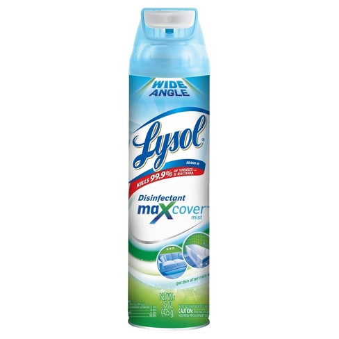 LYSOL® Max Cover™ Disinfectant Mist, Garden After Rain, 15oz - image 1 of 4