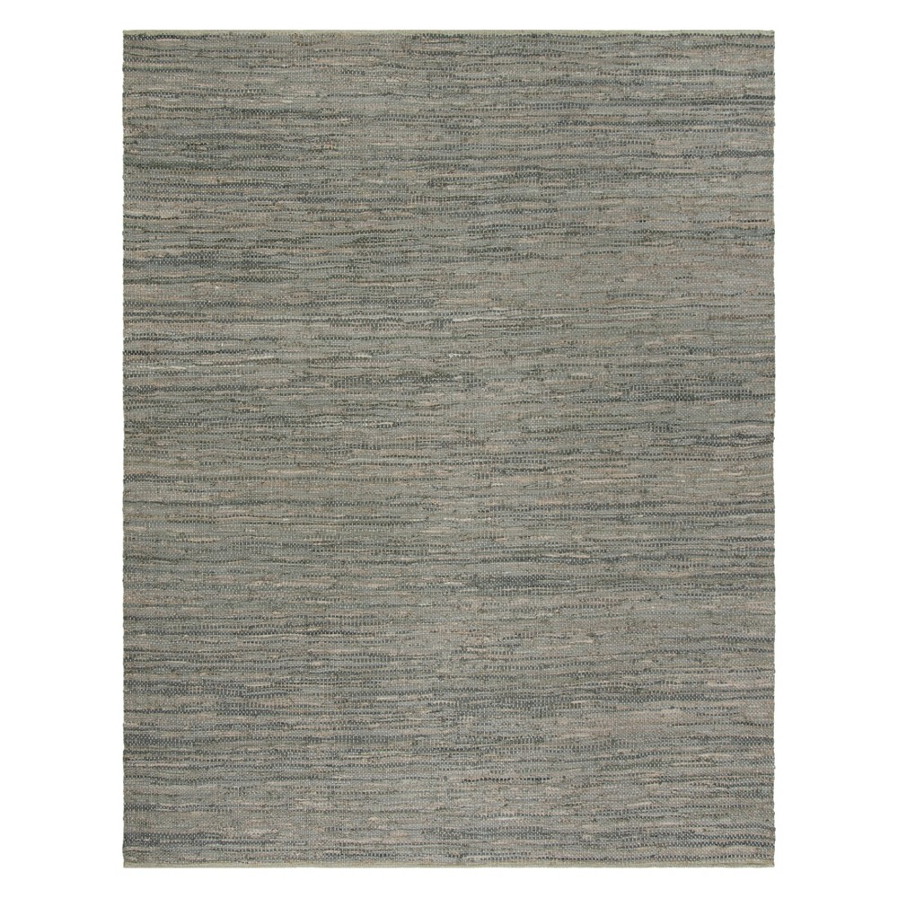 8'X10' Solid Woven Area Rug Gray - Safavieh