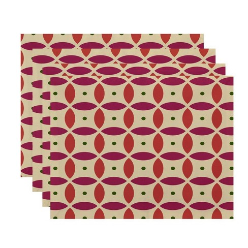 Set of 4 Deep Sea Coral Geometric Placemat - E by design - image 1 of 1