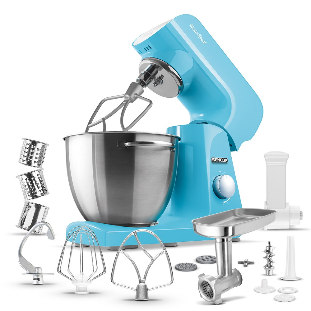Sencor 4.75qt Stand Mixer and Accessories – Blue 54289371
