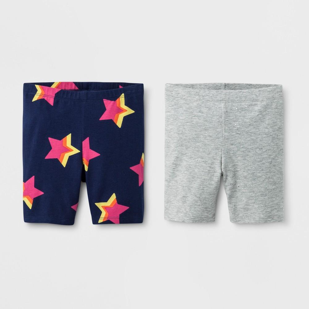 Toddler Girls' Trouser Shorts - Cat & Jack Blue Gray 3T