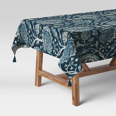 "50"" Cotton Jacobean Table Throw - Threshold™"