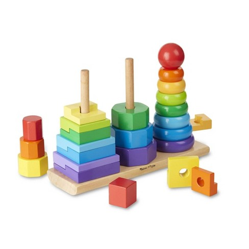 Melissa & Doug Geometric Stacker - Wooden Educational Toy - image 1 of 4