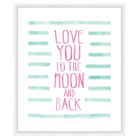 Love You To The Moon & Back 18X22 Wall Art - image 1 of 1