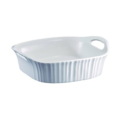 "CorningWare French White 8""x8"" Square Ceramic Baking Dish"