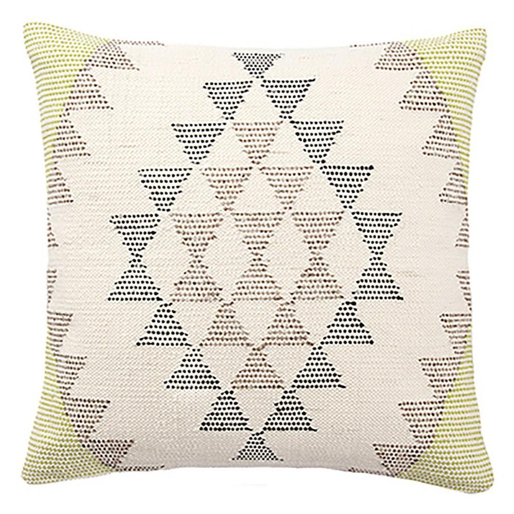 "Image of ""18"""" Portales Geometric Down Throw Pillow White/Gray - Jaipur Living"""