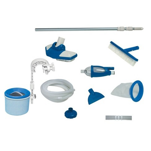 Intex Deluxe Pool Automatic Surface Skimmer and Maintenance Kit w/ Vacuum & Pole - image 1 of 4