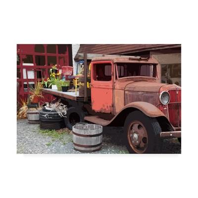 "24"" X 16"" Monte Nagler 'Memories Truck' Canvas Art - Trademark Fine Art"
