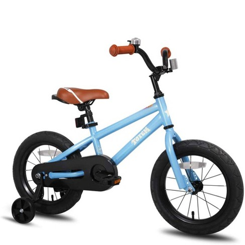 Joystar Totem 14 Inch Kids Toddler Training Bike Bicycle with Training Wheels, Rubber Tires, and Coaster Brake, Ages 3 to 5, Blue - image 1 of 4