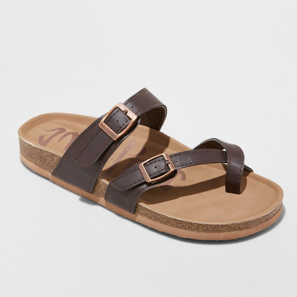 Women's Mad Love Prudence Footbed Sandal - Dark Brown 12
