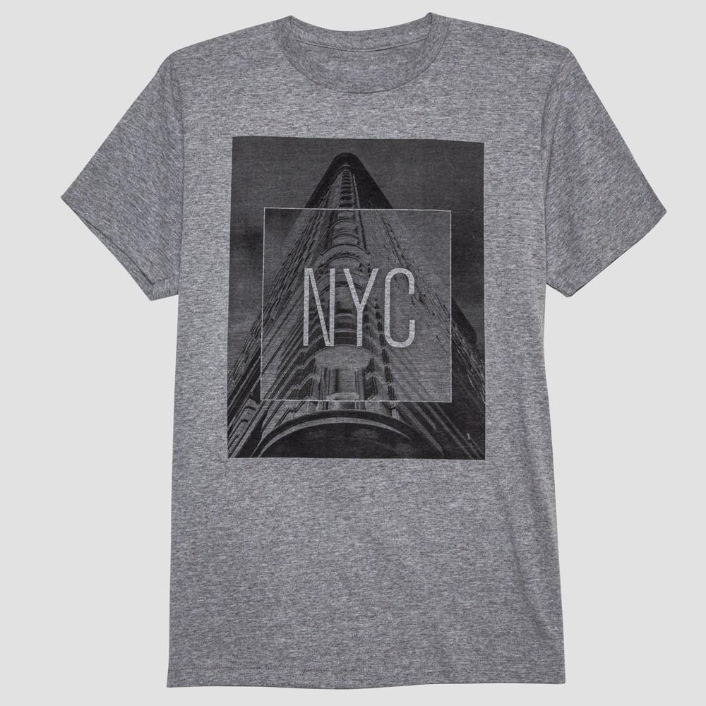 Men's Flatiron Short Sleeve Graphic T-Shirt - Cement XL, Gray