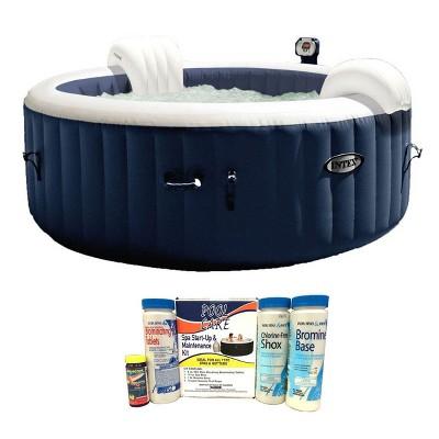 Intex 28405E Pure Spa 4-Person Inflatable Hot Tub w/ Chemical Maintenance Kit
