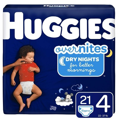 Huggies Overnites Diapers Jumbo Pack - Size 4 (21ct)
