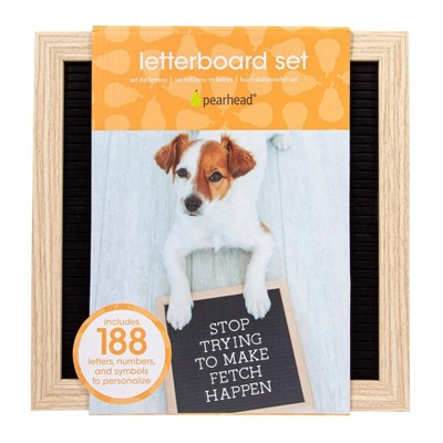 Pearhead Pet Letterboard Set - Black