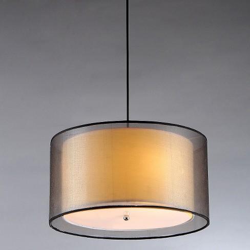Warehouse Of Tiffany Indoor Pendant -Black - image 1 of 1