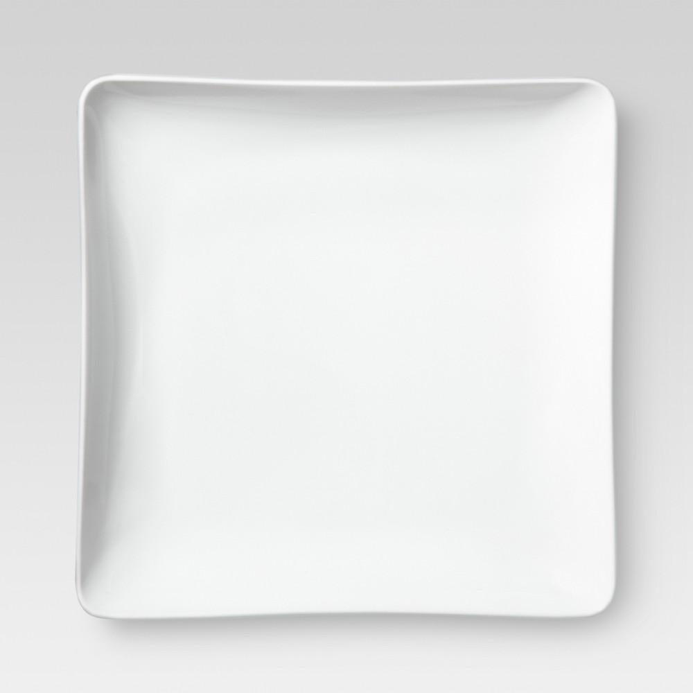 Square Porcelain Salad Plates 8 White Set Of 4 Threshold 8482