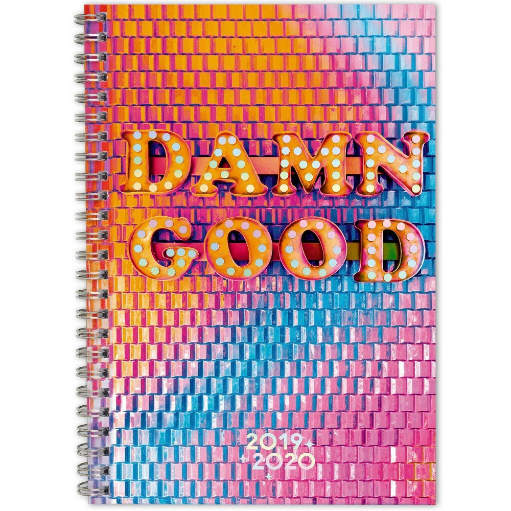 "Image of ""2019-2020 Academic Planner 5.5""""x 8.5"""" Damn Good Pink/Orange - Matt Crump for Cambridge"""