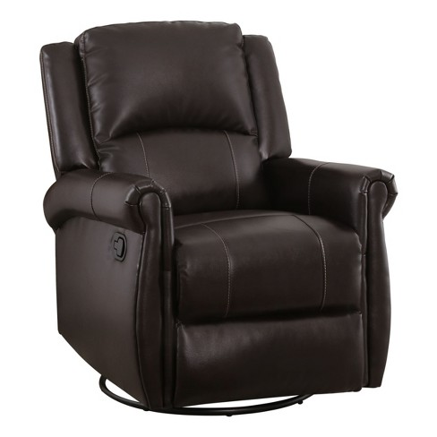 Miraculous Elena Leather Swivel Glider Recliner Brown Abbyson Living Gmtry Best Dining Table And Chair Ideas Images Gmtryco