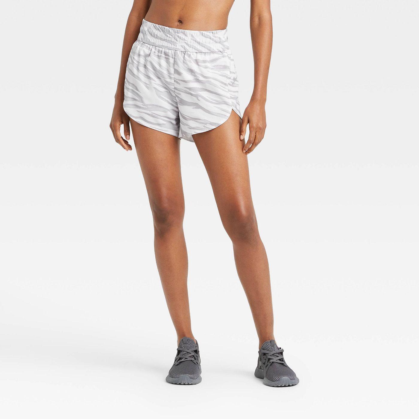 Women's Animal Print Mid-Rise Run Shorts 3