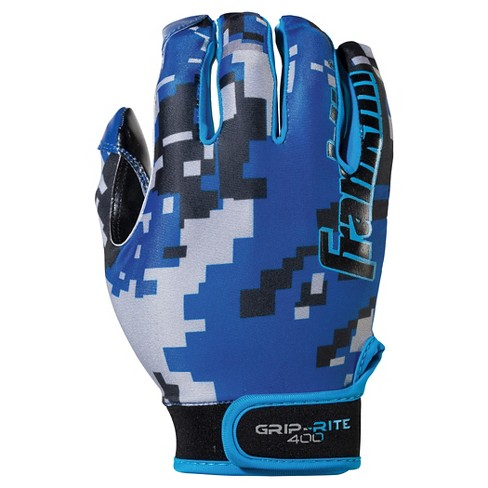 Franklin Sports Adult Grip-Rite® 400 Football Receiver Gloves Small / Medium - Blue - image 1 of 3