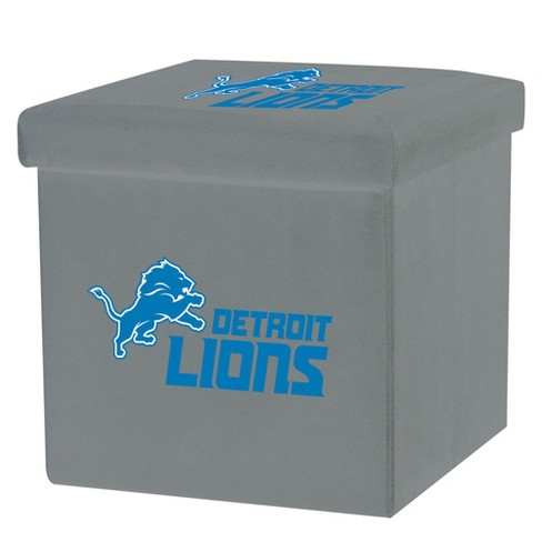 NFL Franklin Sports Detroit Lions Storage Ottoman with Detachable Lid - image 1 of 6