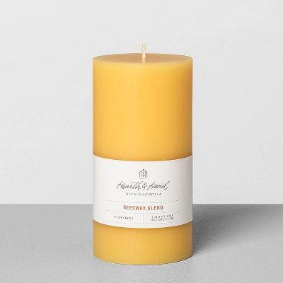 "3"" x 6"" Beeswax Blend Pillar Candle - Hearth & Hand™ with Magnolia"