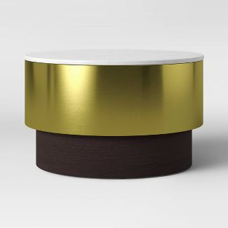 Toluca Marble and Brass Coffee Table Gold - Project 62™
