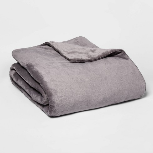 """60"""" x 80"""" Micro Plush Weighted Blanket with Removable Cover - Threshold™ - image 1 of 2"""