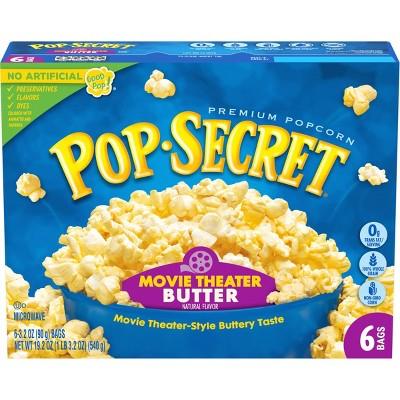 Pop Secret Movie Theater Butter Microwave Popcorn - 6ct