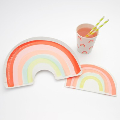 Meri Meri - Rainbow Party Supplies Collection (Plate, Napkin & Cup) - Set of 12