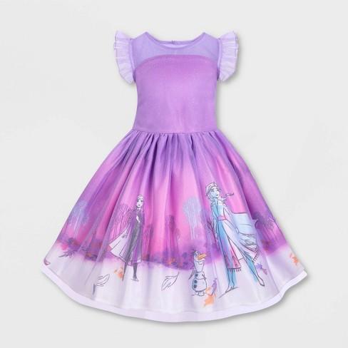 Girls' Disney Frozen Dress - Purple - Disney Store - image 1 of 2