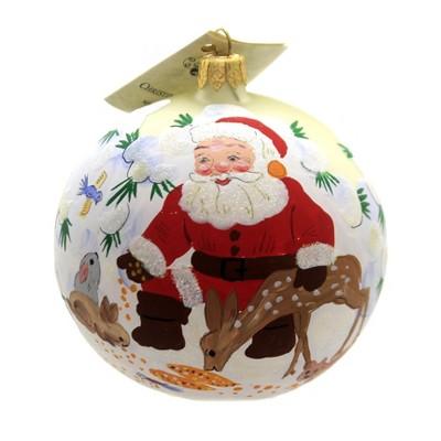 "Christina's World 4.0"" Santa & Bambi Christmas Ornament  -  Tree Ornaments"