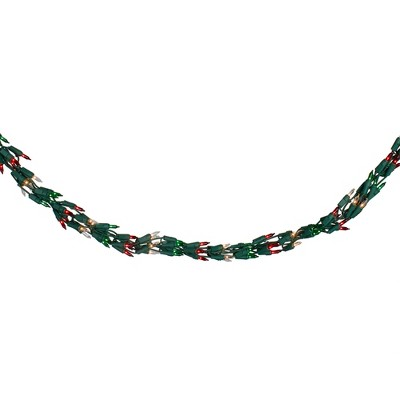 J. Hofert Co 300-Count Red, Clear and Green Mini Christmas Light Garland Set, 9ft White Wire