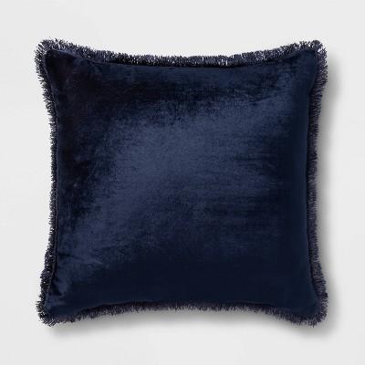 Velvet Mini Fringe Trim Square Throw Pillow   Opalhouse™ by Opalhouse